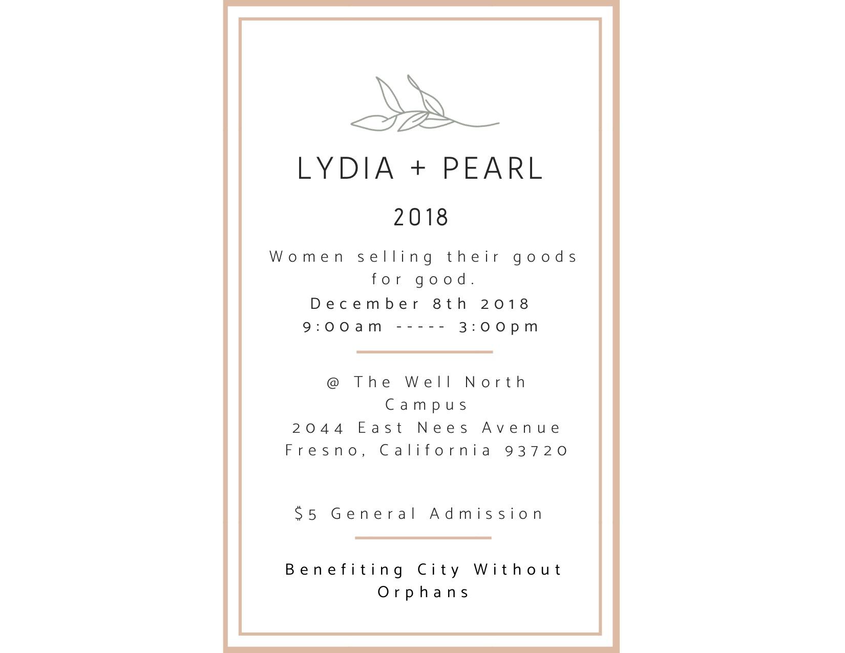 Lydia + Pearl Flyer
